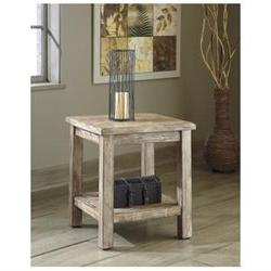 Vintage Casual Chairside End Table in Bisque - Signature Des