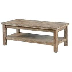 Vintage Casual Rectangular Cocktail Table in Bisque - Signat