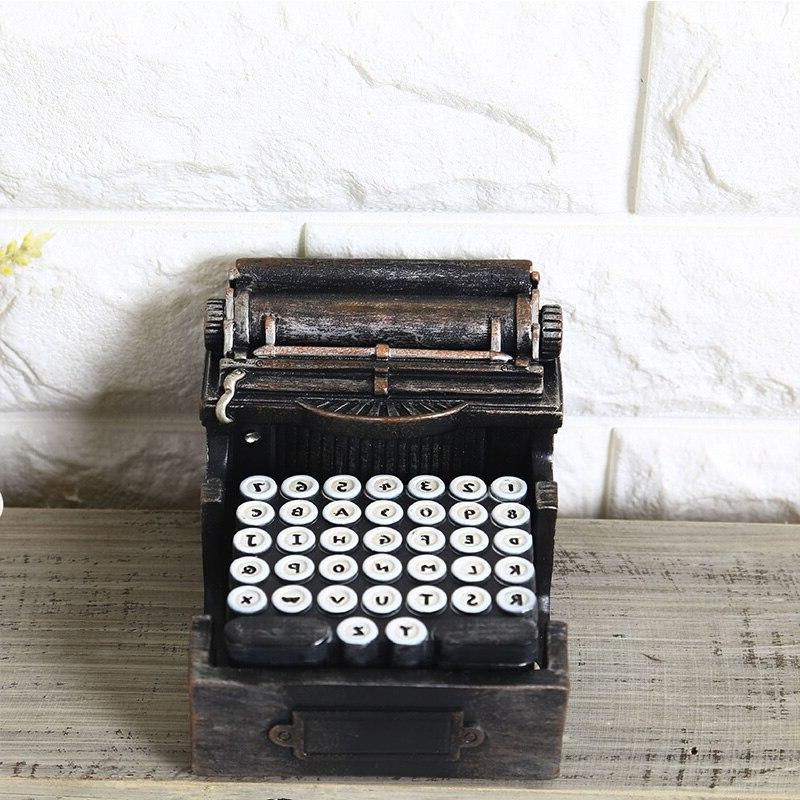 Vintage Typewriter Box <font><b>Home</b></font> Decoration <font><b>Dining</b></font> <font><b>Table</b></font> Household