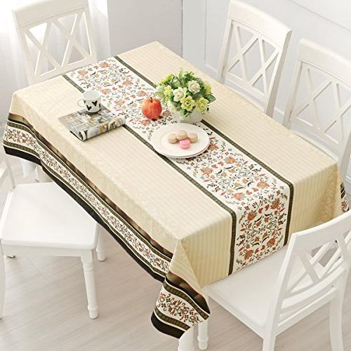 DUOFIRE Vinyl Wipe Clean Waterproof Stain Proof Spill Weight Tablecloths Outdoor Indoor use