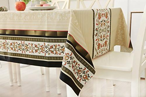 DUOFIRE Tablecloth Wipe Table Waterproof Stain Proof Spill Weight PVC Tablecloths for Outdoor Kitchen use