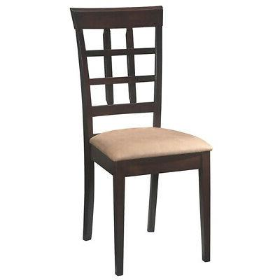 Dining Chair Set Kitchen 2 Cushion Modern Contemporary Wood