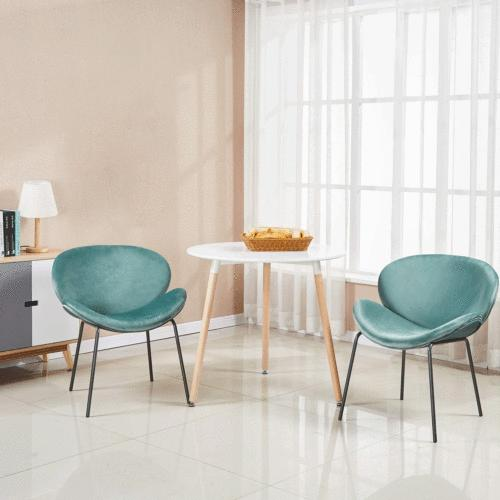 White Round Dining Table Wood Legs Tea Table