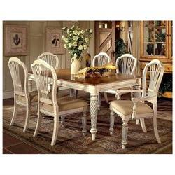 Hillsdale Wilshire 7 Piece Rectangle Dining Room Set in Anti