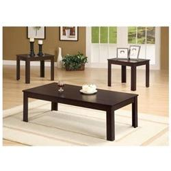 Winslow Three Piece Occasional Table Set in Dark Walnut