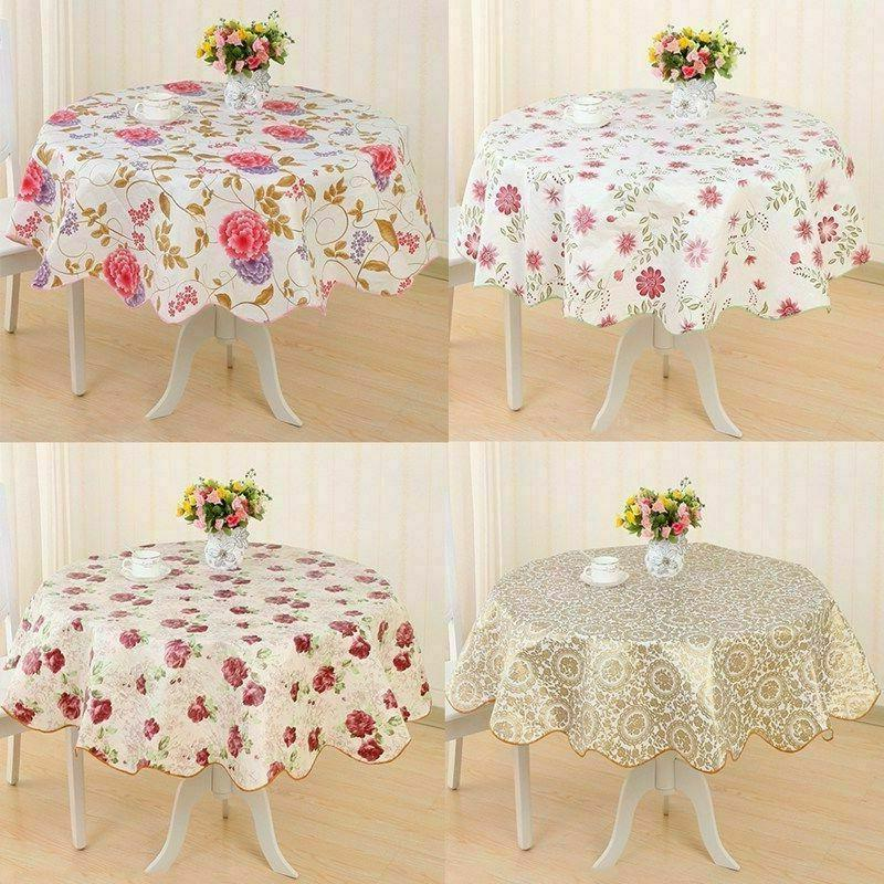 Wipe Vinyl Tablecloth Cover Round Latest