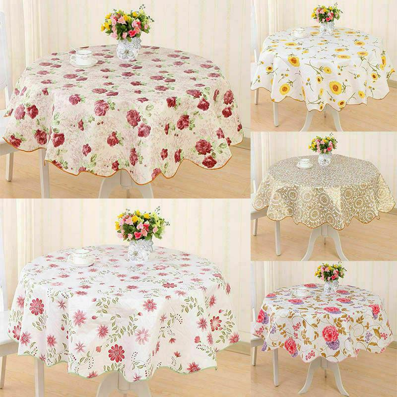 wipe vinyl pvc floral tablecloth dining kitchen