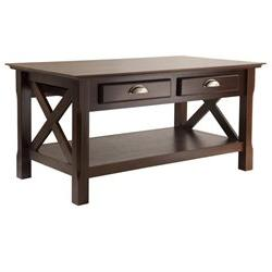 Winsome Wood Xola Coffee Table with 2 Drawers - Rectangle -