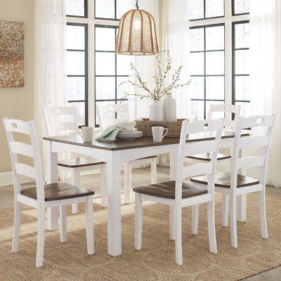 woodanville 7 piece dining table set
