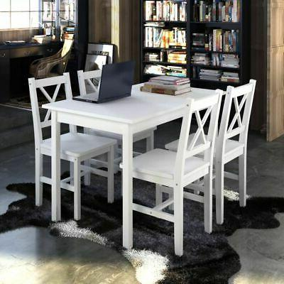 wooden kitchen dining set with lacquered table