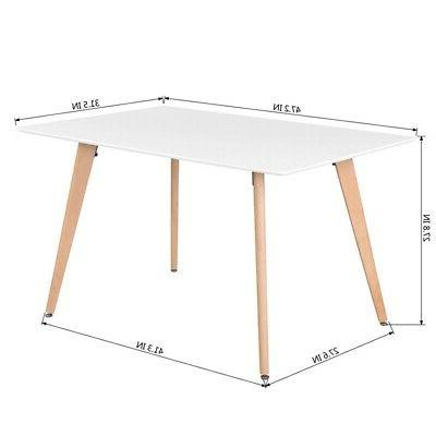 Wooden Table Contemporary Furniture Wood Leg