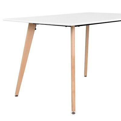 Wooden Oak White Table Contemporary Kitchen Furniture Wood