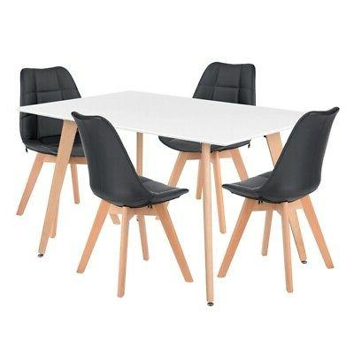 Wooden Oak White Dining Table Furniture