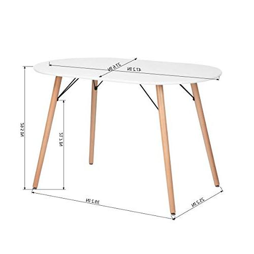 HOMY CASA Dining Table Plated Legs Dining