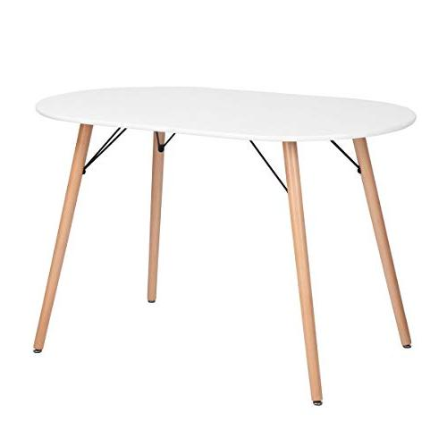 wooden oval kitchen dinning table