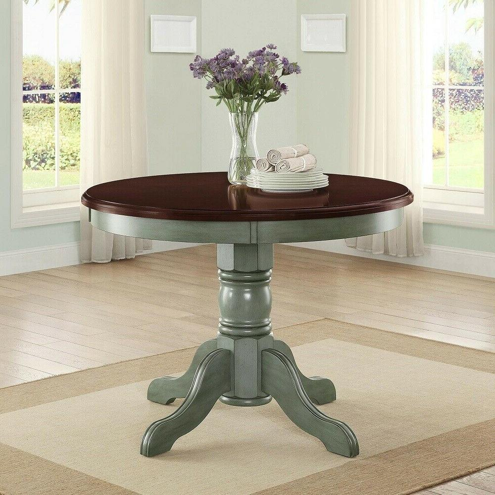wooden round kitchen dining table