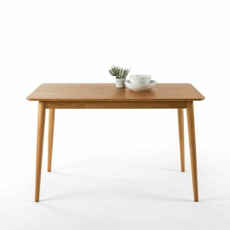 zinus mid century modern wood dining table
