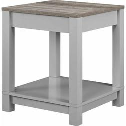 Better Homes and Gardens Langley Bay End Table, Gray/Sonoma