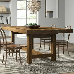 Large Farmhouse Extendable Dining Room Table Rustic Country