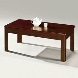Large Wood coffee TableShelf Dining Sitting Kitchen Home Off