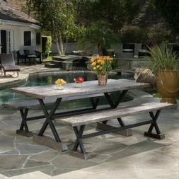 Lavelle Brown Magnesium Oxide Dining Table