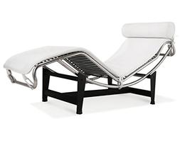 Artis Decor Le Corbusier Style LC4 Chaise Lounge Chair, Made
