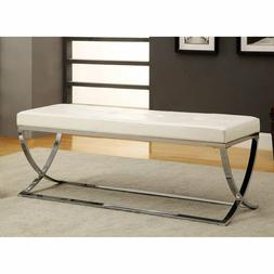 Leather Bench Entry Hallway Living Room Bedroom Seat End Of