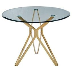 """Artisan Furniture Liesl 39"""" Round Glass Dining Table With Go"""