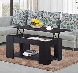 Topeakmart Lift up Top Coffee Table with Under Storage Shelf