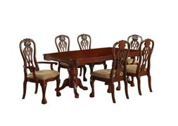 Furniture of America Lissenia 7-Piece Formal Dining Table Se