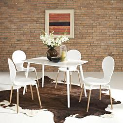 Modway Lode Dining Table in White
