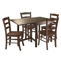 Winsome Wood Lynden 5 Piece Dining Table W/ 4 Ladder Back Ch