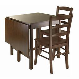 Winsome Lynden 3-Piece Dining Table with 2-Ladder Back Chair