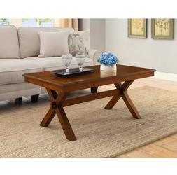 Maddox Crossing Coffee Table Cognac Wood Office Dining Accen