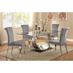 Coaster Home Furnishings Manessier 5-Piece Dining Set with H