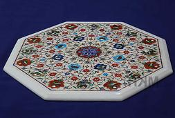 Marble Dining Table Top Handmade Stones Marquetry Art Decor