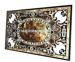 Marble Side Dining Table Top Inlaid Collectible Pietradura C