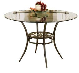 """Hillsdale Marsala 48"""" Round Dining Table, Gray Finish with R"""