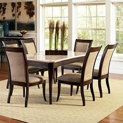 Steve Silver Company Marseille 5 Piece Marble Top Dining Tab