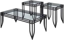 Roundhill Furniture 3307 Matrix 3-in-1 Metal Frame Accent Co