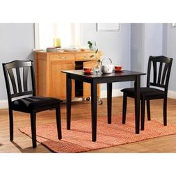 Metropolitan 3 Piece Dining Set, Small Kitchen Dining Set In