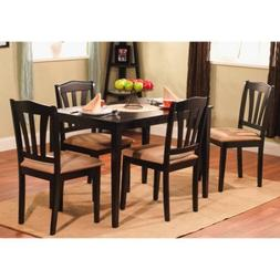 Metropolitan 5-Piece Wooden Dining Set, 1 Table & 4 Chairs