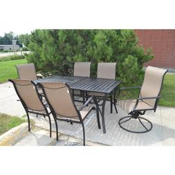 Mica 7 piece pc slat tabletop patio dining set original