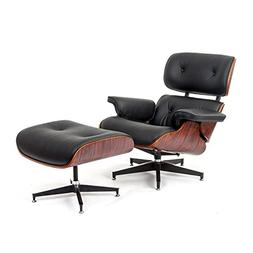 Mid-Century Classic Design Rosewood Lounge Chair and Ottoman