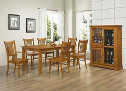 MISSION STYLE COUNTRY HARDWOOD DINING TABLE & CHAIRS DINING