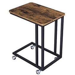 VASAGLE Vintage Snack Side Table, Mobile End Table for Coffe