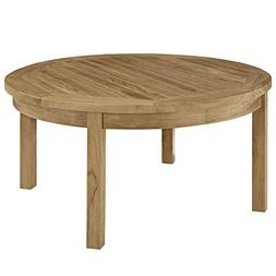 Modway Marina Outdoor Patio Teak Round Coffee Table