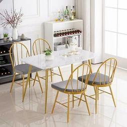 modern dining table and 4 chairs set