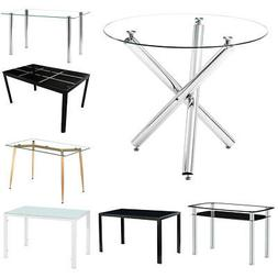 Modern Glass Living Room Coffee Table Rectangle Round Dining