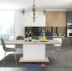 Modern Kitchen Extendable Dining Table 4-8P Seaters Wooden O